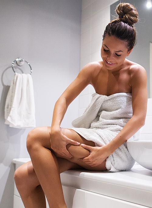 Straffe Haut durch Massagen