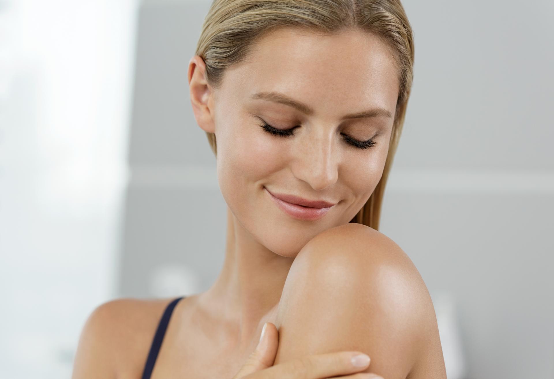 Frau mit gepflegter Haut